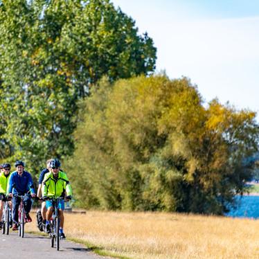 Cycling round Rutland Water