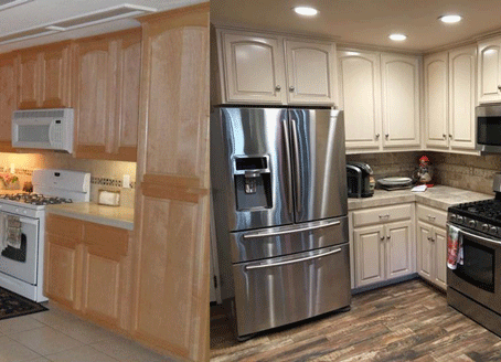 Paso Robles Homeowner Remodels Kitchen, Bath, and Hallway Simultaneously with Cabinet Refinishing Se