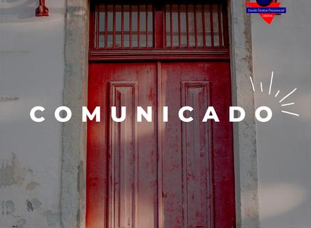 Comunicado Direção Pedagógica