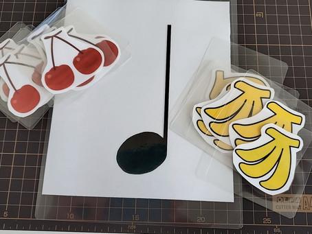 さくらんぼとバナナ