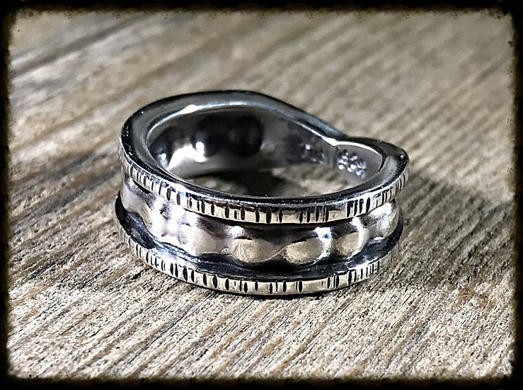 Black Forge Dimple Ring