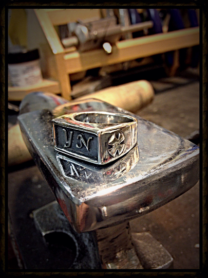 Monogram Power Ring