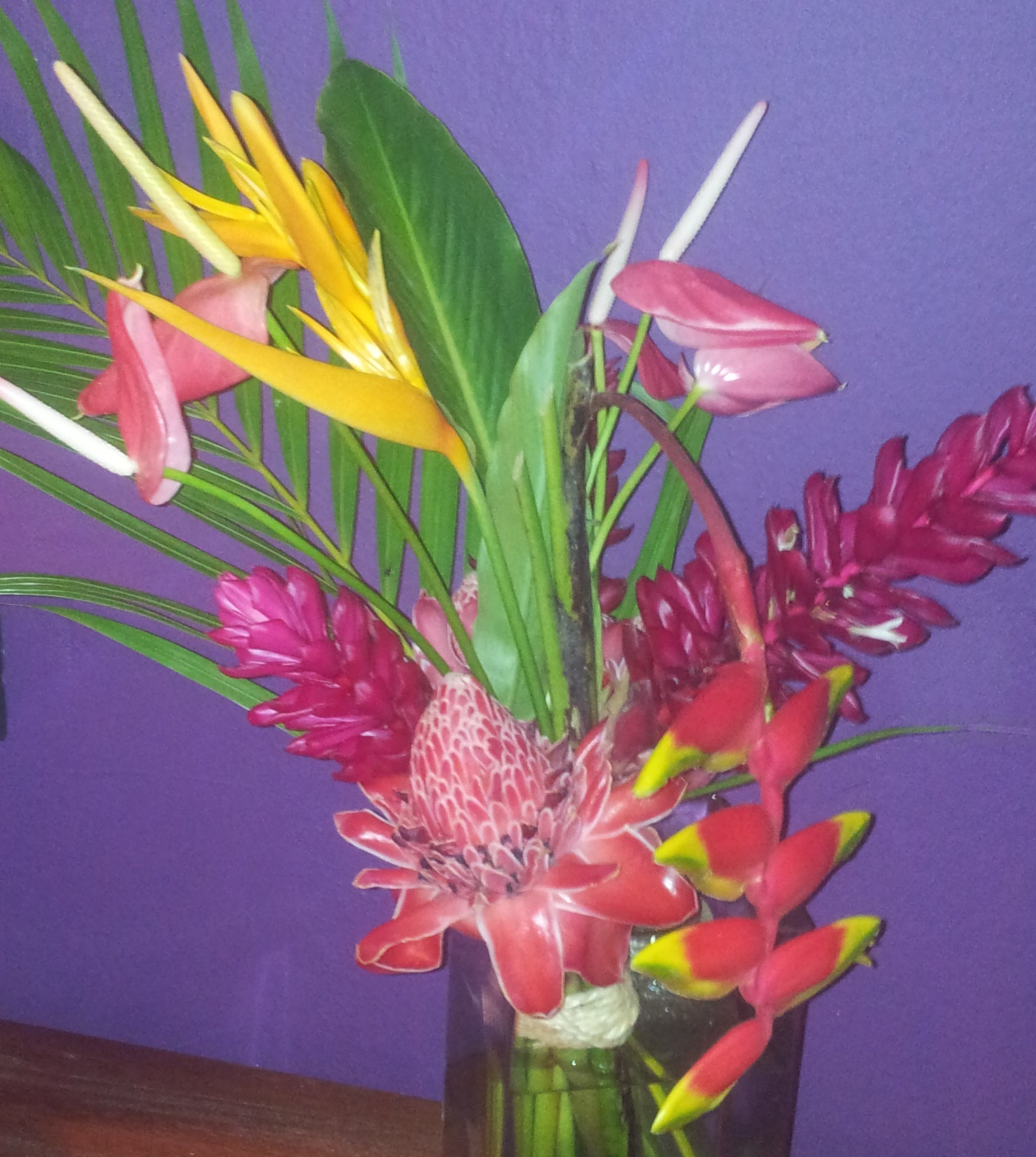 Un bouquet de fleurs,