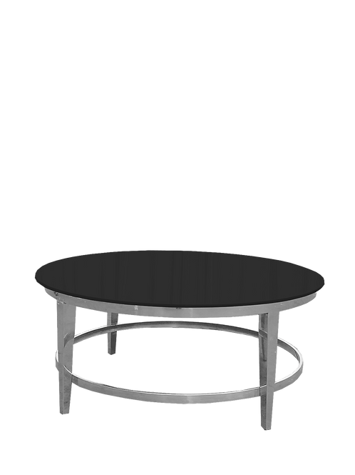 Black & Silver Roma Coffee Table