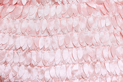 Blush Leaves Taffeta Runner