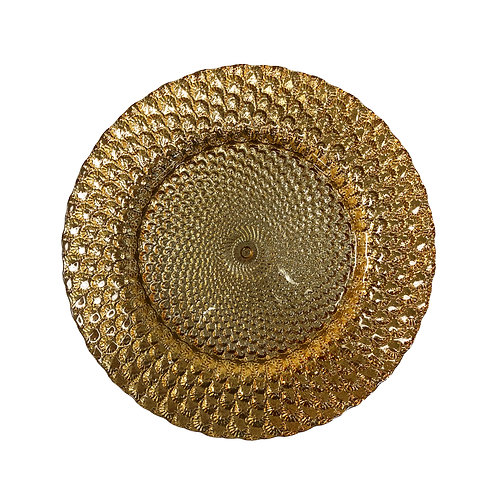 Gold Capri Charger Plate