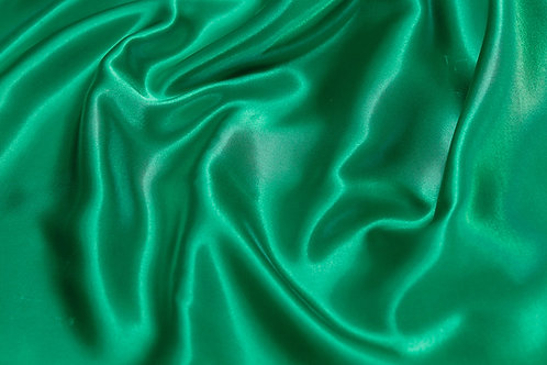 Kelly Green Charmeuse Satin