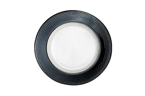 Black Vegas Glass Charger Plate