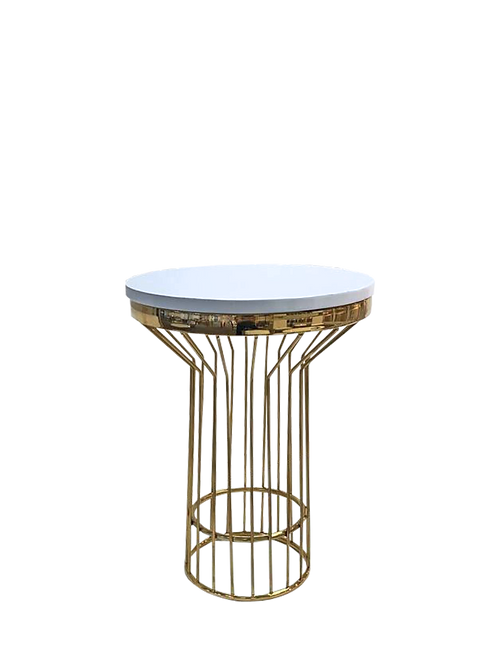 White & Gold Charlotte End Table