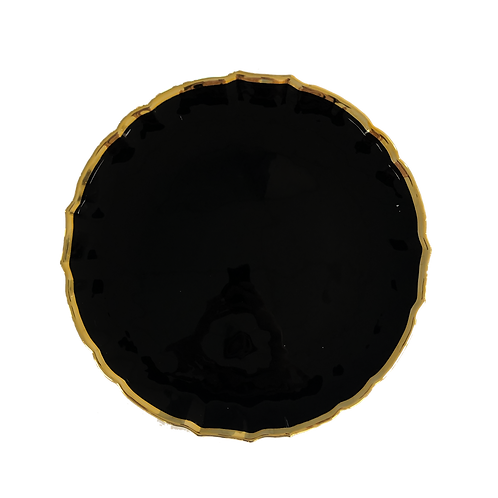 Black & Gold Margot Charger Plate