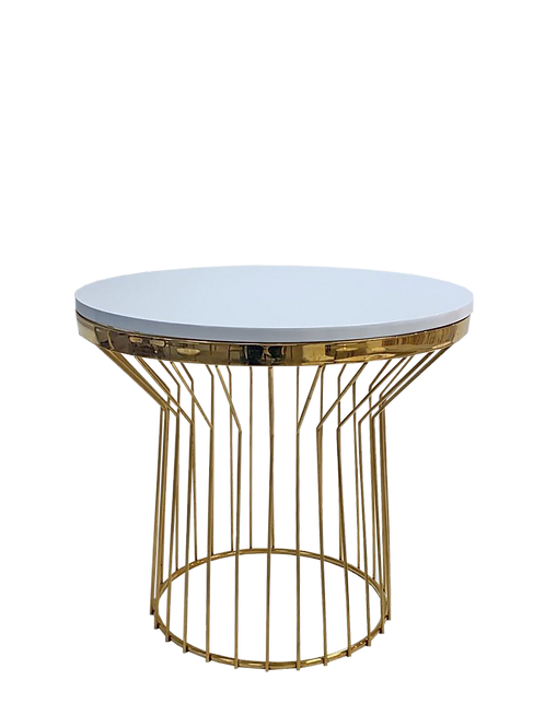 White & Gold Charlotte Coffee Table