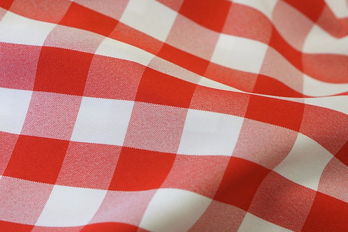 Red & White Checkers Linen