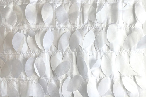 White Leaves Taffeta Runner
