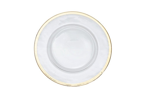 Gold Hammer Rim Charger Plate