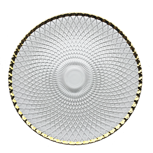 Clear & Gold Luxor Charger Plate