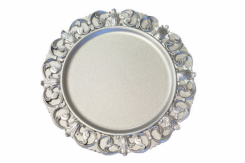 Silver Adele Charger Plate