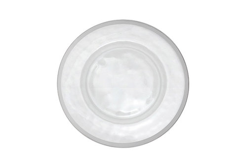 Silver Hammer Rim Charger Plate