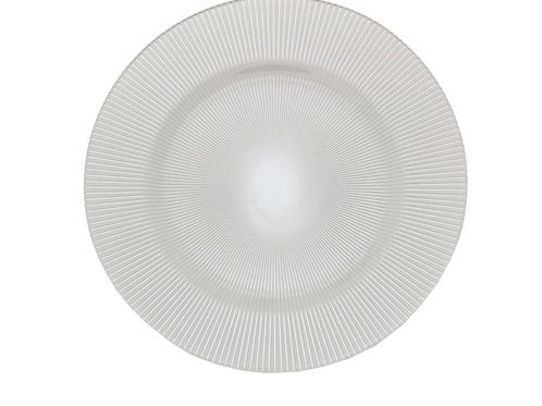 White Nicole Charger Plate