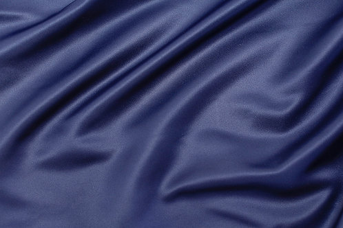 Navy Blue Lamour Satin