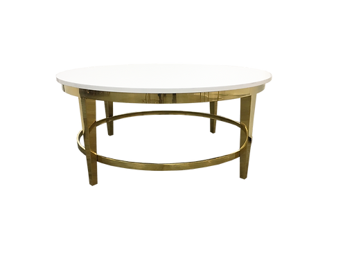 White & Gold Roma Coffee Table
