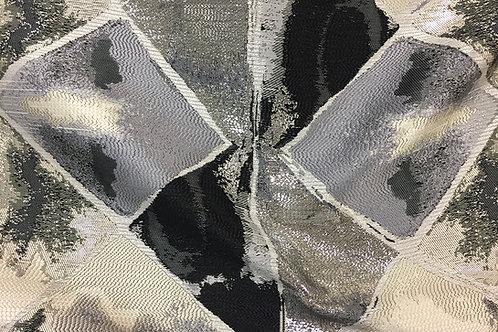 Black & Silver Mosaic