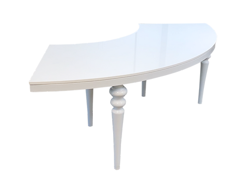 White Gloss Serpentine Table
