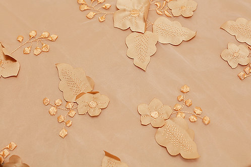 Gold Applique Organza