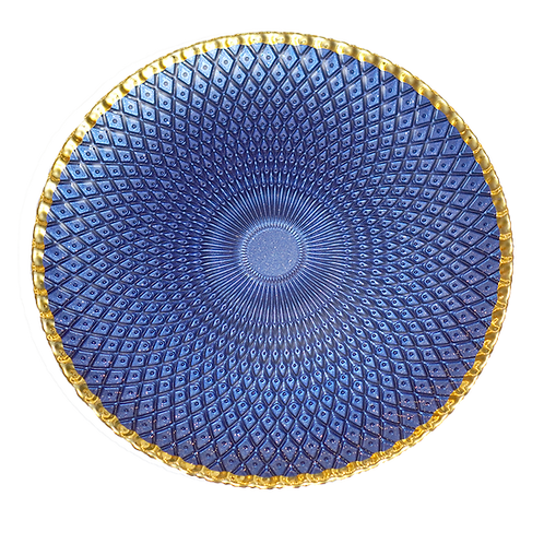 Blue & Gold Luxor Charger Plate