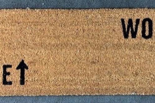Work/Wine Coir Mat