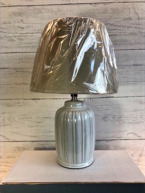 White Beveled Table Lamp