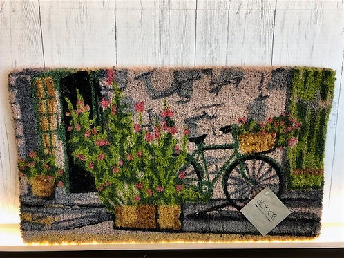 Bicycle on Wall Coir Mat
