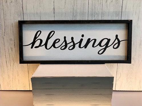 Blessings Word Art