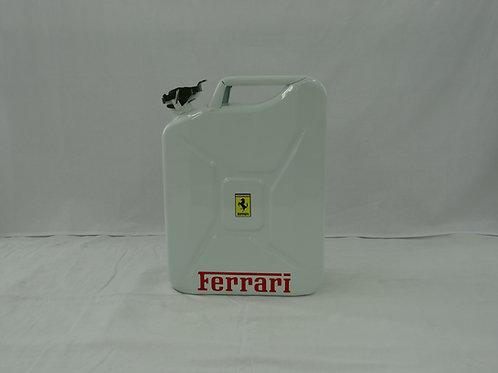 Jerrican Ferrari blanc