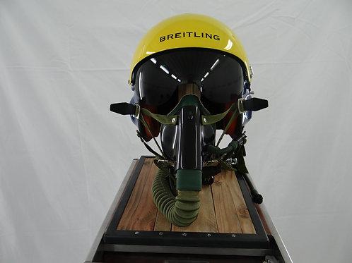 Casque de pilote de chasse ancienne Jet Team Breitling