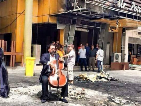 Why I played the cello at a bombsite