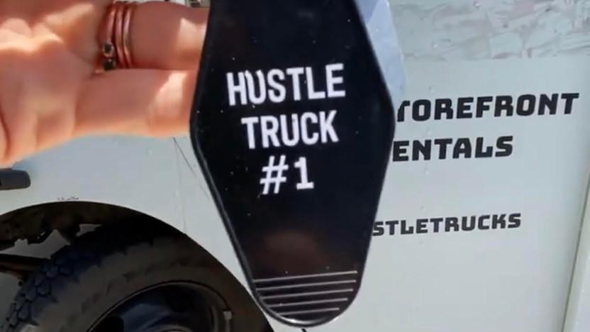Hustle Trucks Mobile Storefront Custom Keychain