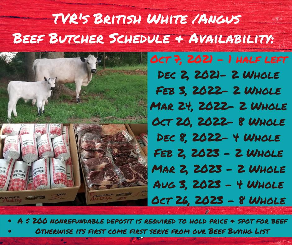 Updated TVR's British White BEEF Butcher