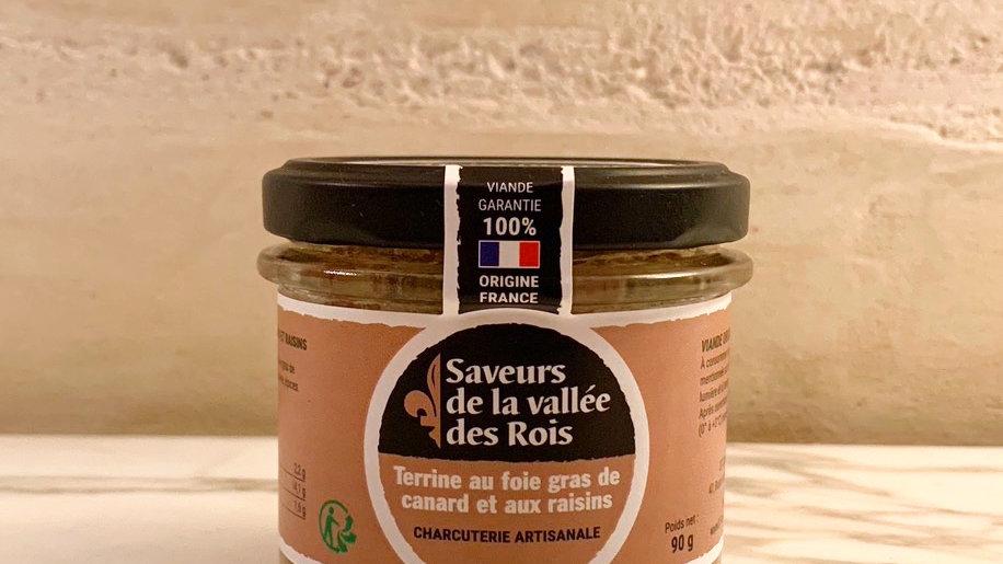 Terrine au Foie Gras de Canard et aux Raisins