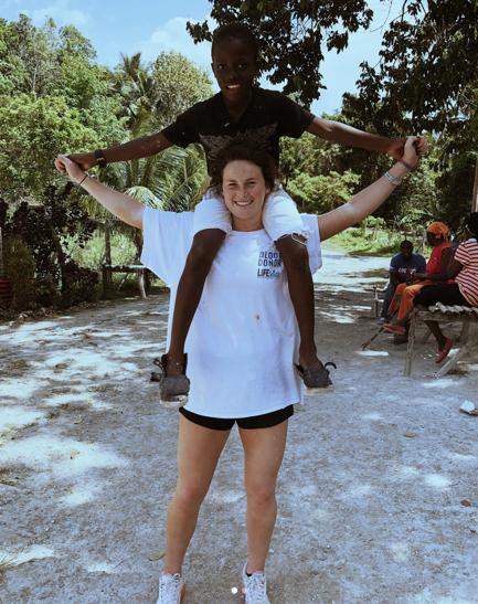 Mollie Belisle in Jamaica