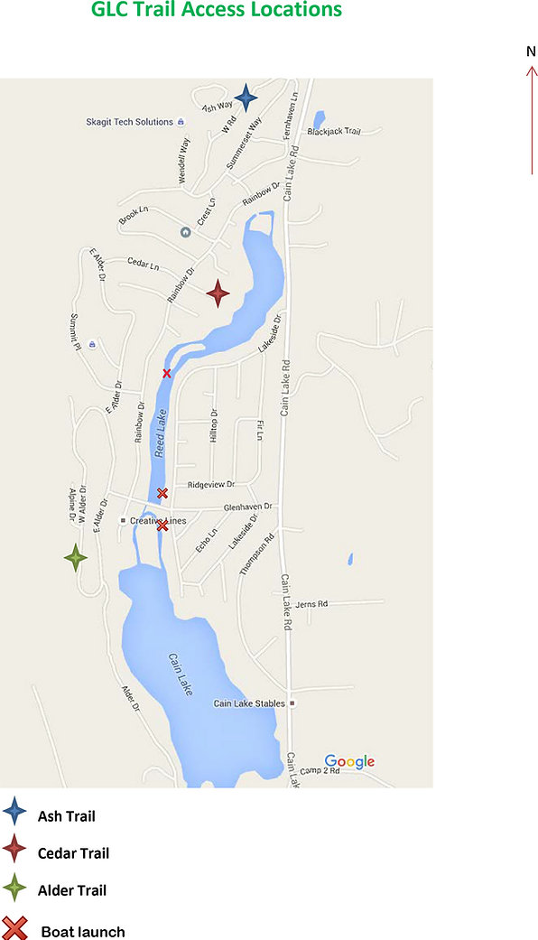 GLC trail access Locations