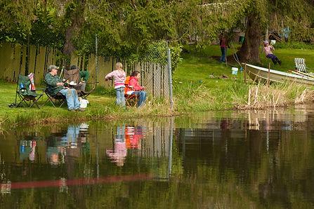 Family Fishing on Cain Lake in Glenhaven