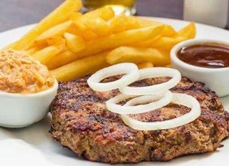Hamburguesa BBQ yPapas Fritas