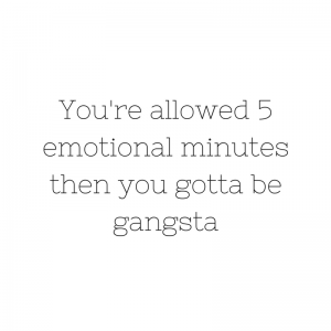 it's time to be gangsta