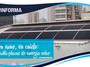Eu amo, eu cuido: TCP implanta placa de aquecimento de energia solar