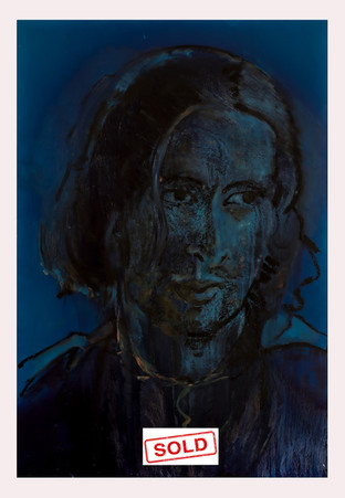 blauw portret sold