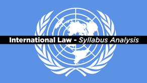 UPSC Law Optional Syllabus -International Law