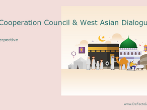 Gulf Cooporation Council and Regional West Asian Dialogue.