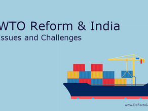 Reform proposal of WTO and India