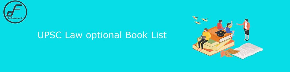 upsc law optional books