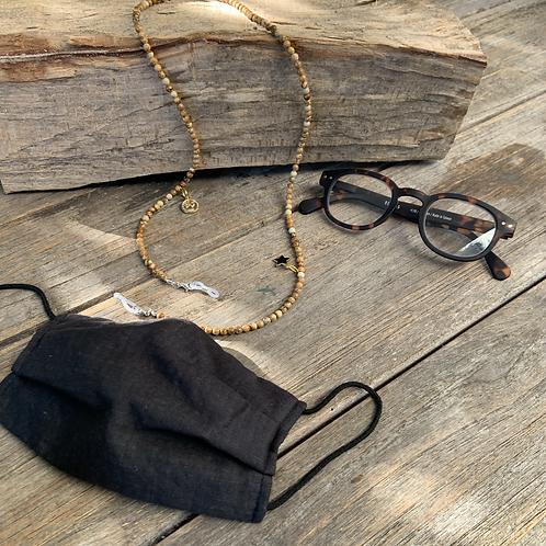 Masken- und Brillenkette mit Charms